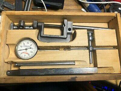 Vintage Starrett Dial Indicator 196 With Original Wood Case No Lid 615