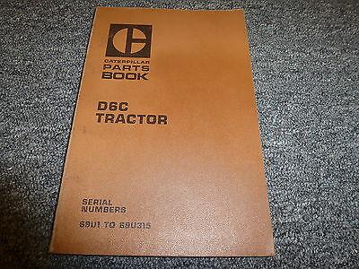 Caterpillar Cat D6c Crawler Tractor Dozer Parts Catalog Manual S N 69U1 69U315