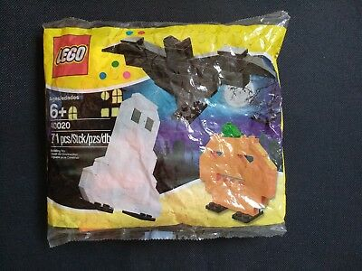 Lego 2011 Halloween 40020 Polybag jack o' lantern pumpkin ghost bat sealed