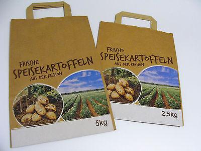 Papiertaschen Kartoffeln Tragetaschen braun 2,5 kg -