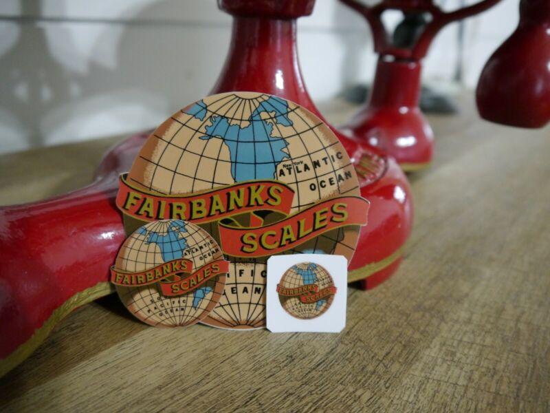 Fairbanks Scales Vintage Style Restoration Decals (3 Decals)(Large/Sm/Ex.Sm)