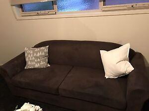King single bed frame timber plus 3 seater sofa for sale Preston Darebin Area Preview