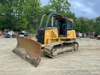 John Deere 750j Dozer Bulldozer Tractor Cabair 6 Way Blade Wjoystick Controls