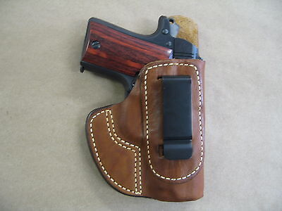 Sig Sauer 938  P938 9Mm Iwb Molded Leather Concealed Carry Holster Ccw Tan Rh