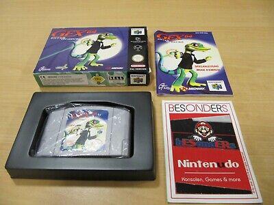 N64 NINTENDO 64 Spiel - GEX 64 ENTER THE GECKO - OVP - PAL - RAR - TOP