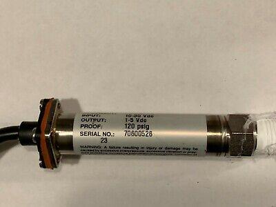 Pressure Transducer Omega Px603 0-60 Psig