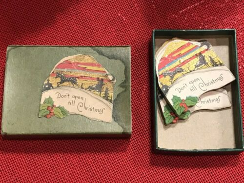 "Vintage Christmas Seals 1930's-1940's Sleigh ""Don't Open til Christmas"" 🎄🎅"