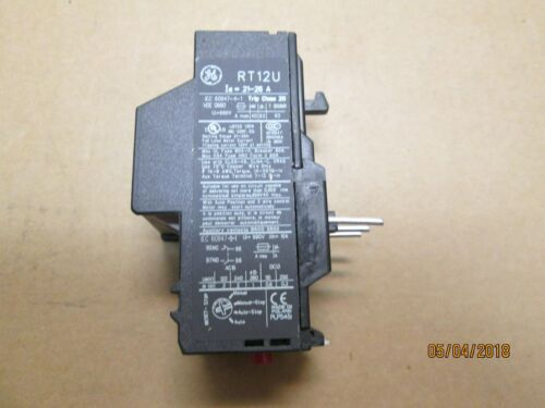 NEW, GENERAL ELECTRIC RT12U OVERLOAD RELAY, 21-26 AMPS.