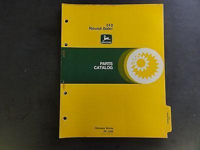 John Deere 510 Round Baler Parts Catalog Pc-1599