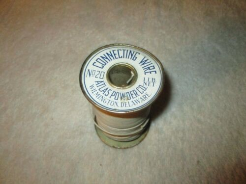 VINTAGE 1 POUND SPOOL OF ATLAS POWDER CO. CONNECTING WIRE NO. 20