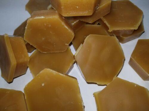 NATURAL BEESWAX hexagonal shape pieces RAW BEES WAX usps Shipping!