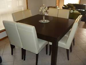 Timber Dining Table & Chairs Epping Whittlesea Area Preview
