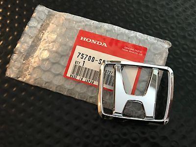 Honda Crx Civic Oem Rear (GENUINE OEM HONDA 88-91 CIVIC CRX 'H' FRONT HOOD REAR TAILGATE EMBLEM )