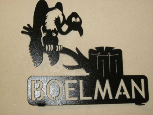 CUSTOM  BUZZARD ON LIMB MAILBOX TOPPER (YOUR NAME OR HOUSE NUMBER)