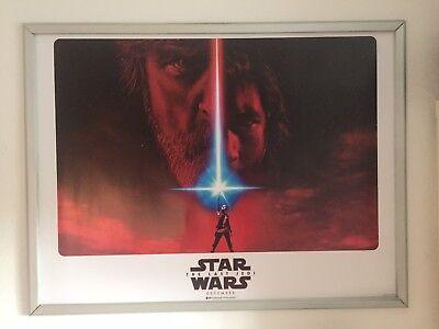 Star Wars The Last Jedi Original Quad Cinema Poster. Version 1.