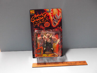 "Marvel Ghost Rider Skinner 5""in Action Figure  Toy Biz NIB Glow-In-The-Dark 1995"