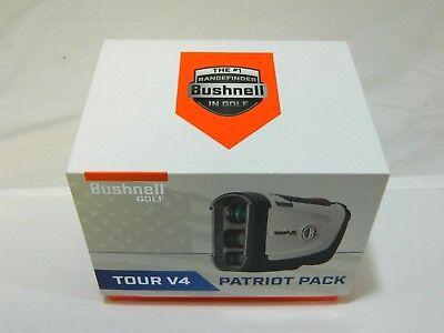 New Bushnell Tour V4 Patriot Pack with Jolt Laser Golf Rangefinder V 4 Patriot