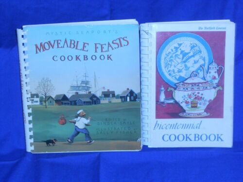 *LOT OF 2 BEST OF CONNECTICUT VINTAGE CT RECIPES COOK BOOKS *HARTFORD *MYSTIC