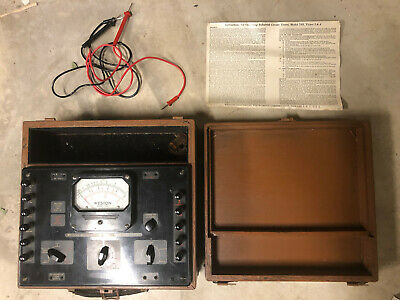 Weston Model 785 Type 4 Industrial Circuit Tester In Original Wooden Case
