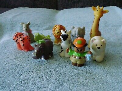FISHER PRICE LITTLE PEOPLE ZOO KEEPER & ZOO ANIMALS