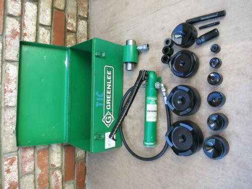 """Greenlee 1/2"""" - 4"""" Hydraulic Knockout Set 7310SB 7310 SB"""