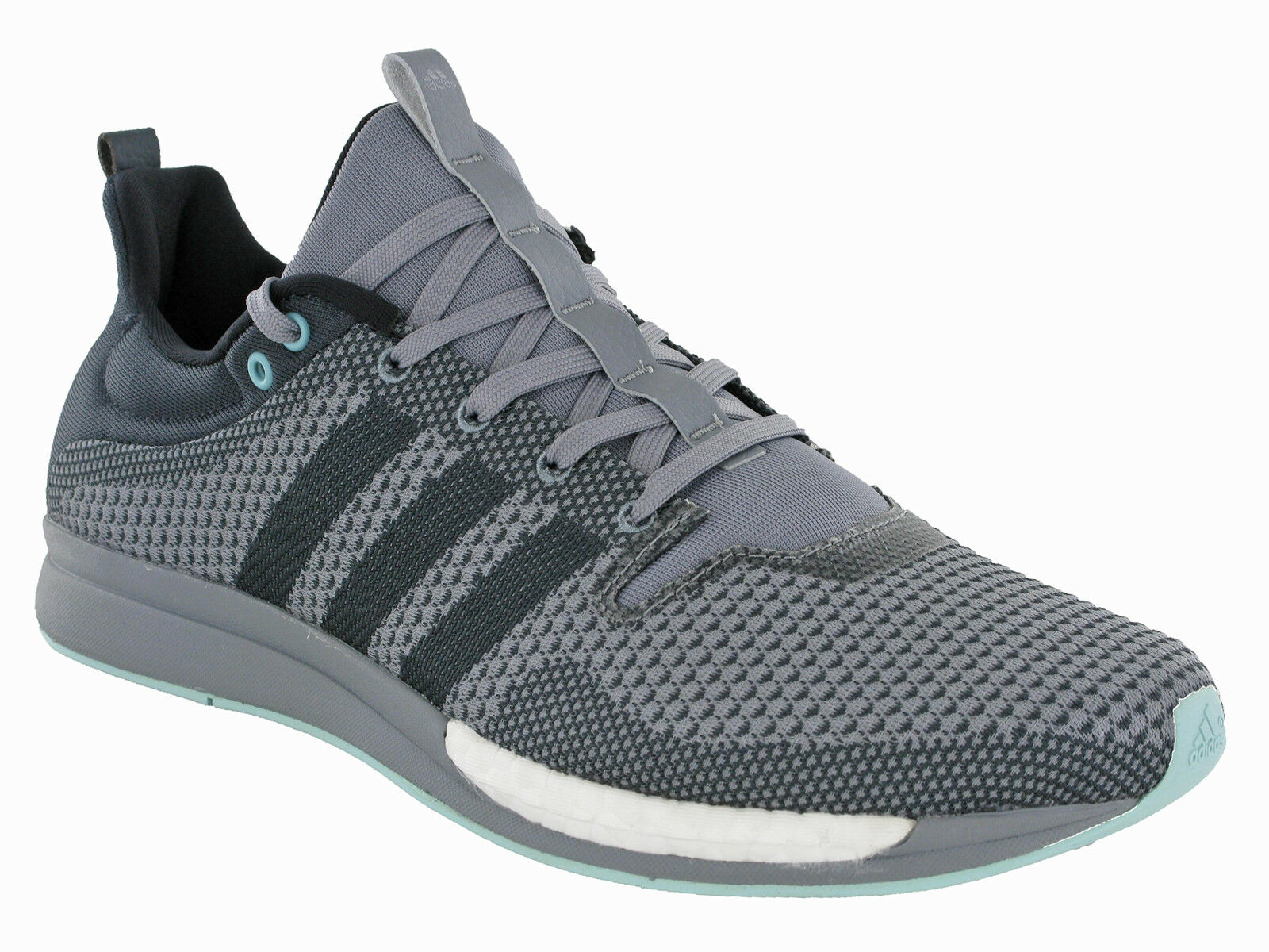 58543fbdeae4 Adidas Adizero Feather Trainers Running Lightweight Mesh Sports Men Grey  AQ5094