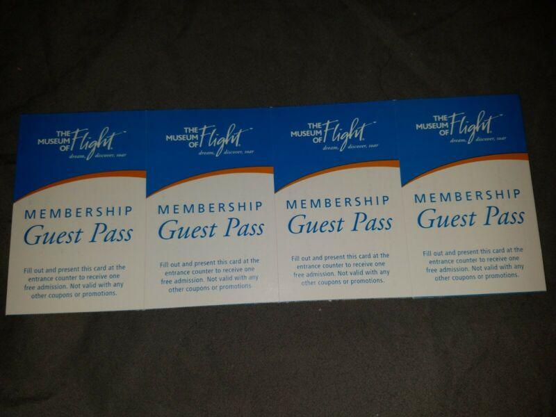 Four (4) Museum Of Flight Admission Tickets