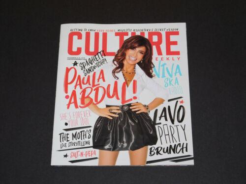Culture Magazine Paula Abdul Nov 2018 Issue Salt-N-Pepa Marshmello NEW RARE!