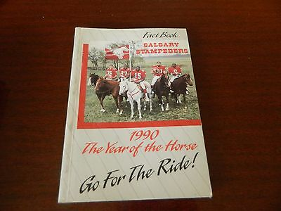 1990 Calgary Stampeders Fact book Guide CFL nice*clean