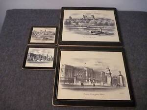 Lady Clare Matching Coasters (8) and Placemats (8) London Scenes Cleveland Redland Area Preview
