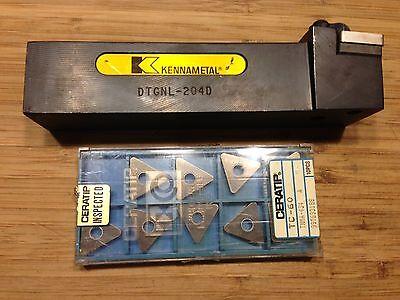 Kennametal Dtgnl-204d Tool Holder 1-14 Sq Sh 6 Oal Lh 10 Inserts New
