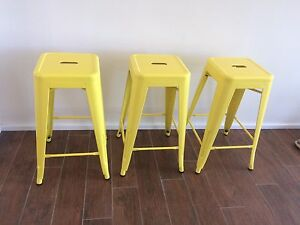 Bar Stools x 3 yellow 66cm NEW $25ea Kings Langley Blacktown Area Preview