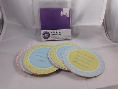 Wilton Baby Shower Trivia Game Drink Coasters - Baby Shower Games Trivia