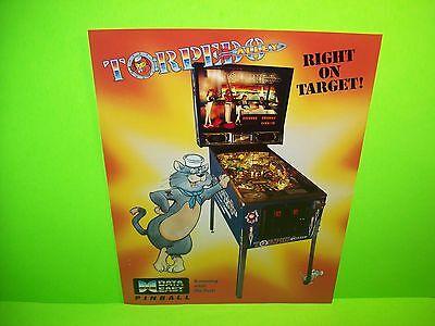 Data East TORPEDO ALLEY Original 1988 Flipper Game Pinball Machine Flyer Rare