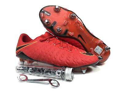 official photos 4308f 37c68 Nike Hypervenom Phantom III SG PRO Men s Soccer Cleats Red 903622-617 Size  8.5