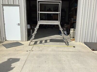 Stainless Steel Crossover Stairs Ladder Platform 45 Tall 78 Wide.