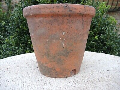 """719 10 Vintage Weathered Ribbed Terracotta Plant Pots 4/"""" Diameter Herb Pots"""