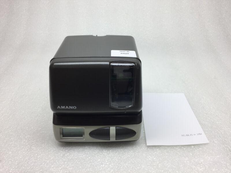 Amano PIX-21 Digital Time Clock Machine w/ AC Adapter & Ribbon, Tested & Working