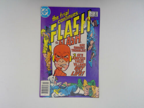 The FLASH #342 DC Comics 1985 FN The Fastest Man Alive!