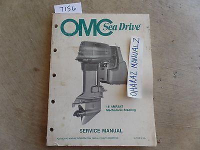 1989 OMC Sea Drive 16AMRJAS Mechanical Steering Service Manual OEM