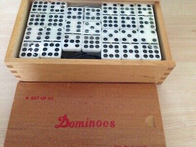 Boxed Set of 55 Dominoes with Spinners/Double Nines
