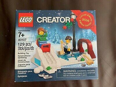 New Sealed Retired Creator LEGO Holiday Christmas 2014 40107 Winter Skating