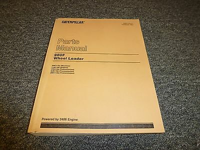 Caterpillar Cat 980f Wheel Loader W 3406 Engine Parts Catalog Manual Manual