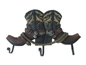 Perchero guardarropa botas vaqueras decoraci n occidental for Ganchos para colgar botas