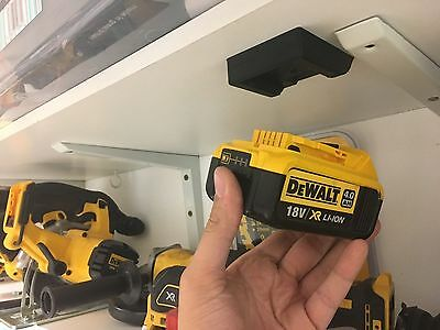10x Stealth Mounts for DeWALT 20v / 18v BATTERY Holder Slot Shelf Rack Stand Van