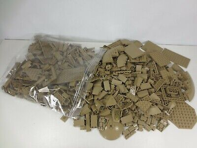 Lego Bricks Parts & Pieces Lot 1 kg Bag of Dark Tan