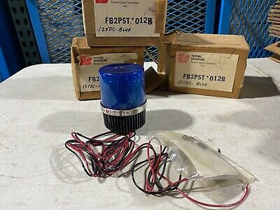 One Vintage Federal Signal Fb2pst 012b Fire Ball Ii 12vdc Series A Blue Nos