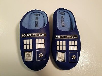 Tardis Slippers (Tardis Open Back Slippers / House Shoes For Adults BBC