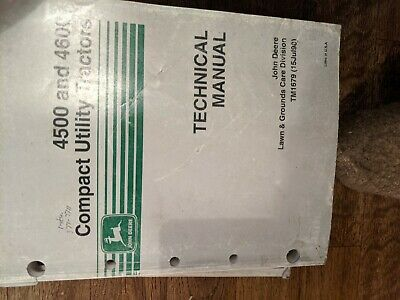 John Deere 4500 4600 Compact Utility Tractor Technical Manual Tm1679