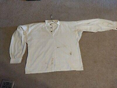 Civil War Soldier Costume (Civil War Soldier Cotton Men's Shirt, Handmade, wooden)